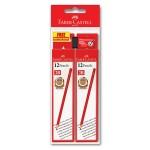 Faber-Castell 1323 2B Pencil 12 Pieces x2 Box Free 1 Eraser