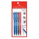FABER-CASTELL Click X7 Ball Pen 4 Pieces in Pack - Assorted Colour