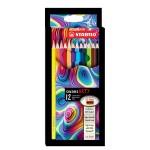 STABILO SWANS ARTY COLOURED PENCILS - 12 LONG