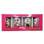 MICKEY RAYA 4PCS GLASS TUMBLER SET