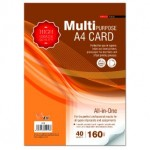 UNI S19 Multipurpose A4 Card 160gsm 40 sheets