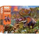 HINKLER PUZZLE DINOSAUR ISLAND 100PCS