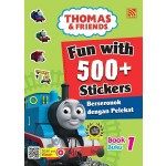 FUN WITH 500+ STICKERS BOOK 1 < BERSERONOK DENGAN 500+PELEKAT (BUKU 1) >