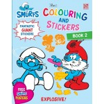 THE SMURFS:COLOURING&STICKERS BK 2