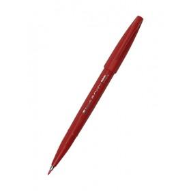 PENTEL BRUSH SIGN PEN SES15C - RED