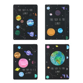 HARD COVER NOTEBOOK A5- GALAXY