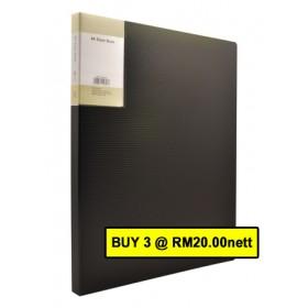 POP BAZIC DISPLAY BOOK A4 20 POCKETS BLACK
