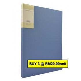 POP BAZIC DISPLAY BOOK A4 20 POCKETS BLUE