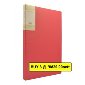 POP BAZIC DISPLAY BOOK A4 20 POCKETS RED