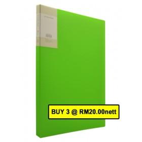 POP BAZIC DISPLAY BOOK A4 20 POCKETS BRIGHT GREEN