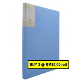 POP BAZIC DISPLAY BOOK A4 20 POCKETS LIGHT BLUE