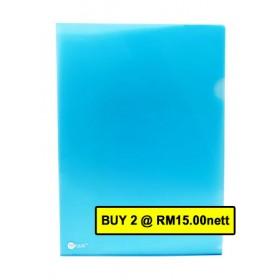 POP BAZIC CLEAR FOLDER A4 BLUE 12 IN 1