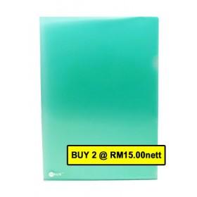 POP BAZIC CLEAR FOLDER A4 GREEN 12 IN 1