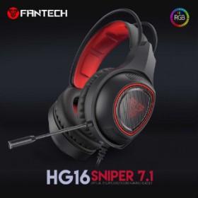FANTECH HG16 SNIPER VIRTUAL 7.1 SURROUND OVER-EAR RGB GAMING HEADPHONE