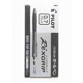 Pilot Rexgrip Ball Pen 0.7mm Black in Box of 10 pieces