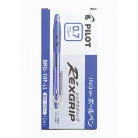 Pilot Rexgrip Ball Pen 0.7mm Blue in Box of 10 pieces