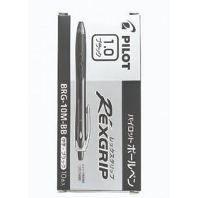 Pilot Rexgrip Ball Pen 1.0mm Black in Box of 10 pieces