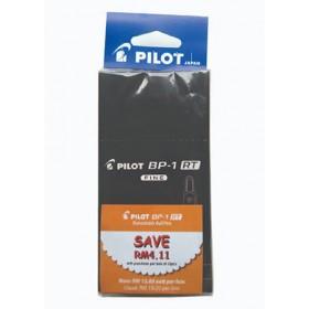 Pilot BP-1RT Ball Pen Fine Black in Dozen Pack (12 pieces)