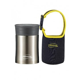 THERMOCAFE PERFECT LIVING STAINLESS STEEL INSULATED FOOD JAR WITH SPOON & POUCH 450ML
