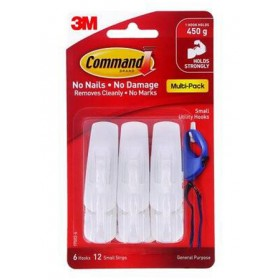 3M COMMAND SMALL UTILITY HOOKS VALUE PACK