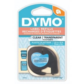 DYMO LETRATAG TAPE - PLASTIC, CLEAR