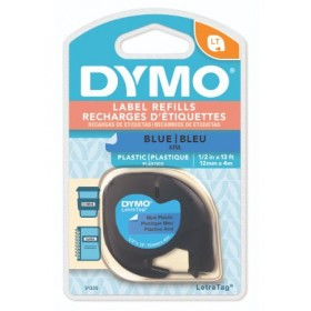 DYMO LETRATAG TAPE - PLASTIC, BLUE
