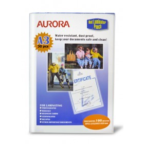AURORA LAMINATING POUCH A3 30 SHEETS