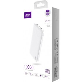 LANEX LPB-N02 POWER BANK 10,000MAH WHITE