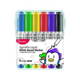 MONAMI SigmaFlo Liquid Board Marker 6 colours SET-A
