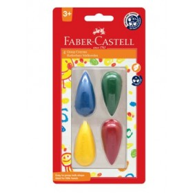FABER-CASTELL GRASP CRAYONS - 4 COLOURS