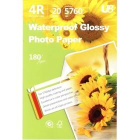 U8 4R GLOSSY PAPER 180GSM (20 sheets)