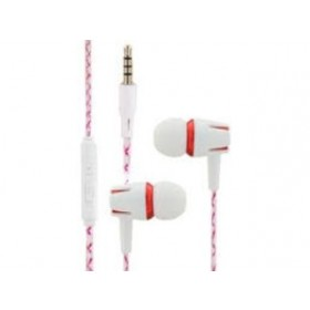 CLIPTEC BME898 WHITE PARTY EARPHONE RED