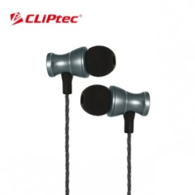 CLIPTEC BME801 MAGNETUCA METAL EARPHONE  GREY