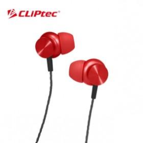 CLIPTEC BME802 MAGNETITAN METAL EARPHONE  RED