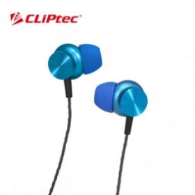 CLIPTEC BME802 MAGNETITAN METAL EARPHONE BLUE