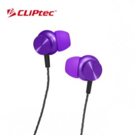 CLIPTEC BME802 MAGNETITAN METAL EARPHONE  PURPLE