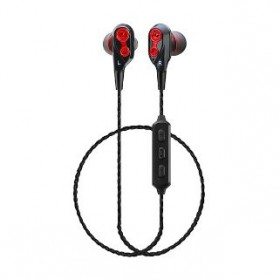 CLIPTEC BBE103 AIR-2SOUL DUAL DYNAMIC DRIVERS BLUETOOTH EARPHONE (RED)