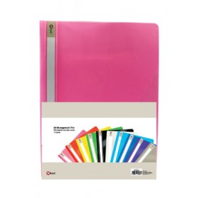 POP BAZIC MANAGEMENT FILE A4 PINK 12 IN 1