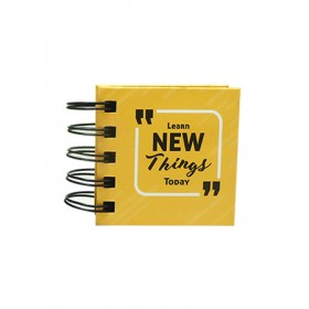 POP BAZIC SPIRAL MINI STICKY NOTE BOOK PB-0145-ORG