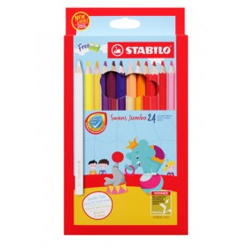 STABILO SWANS JUMBO COLOURED PENCILS - 24 COLOURS