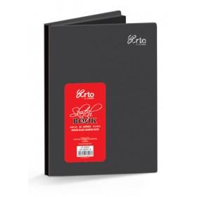 ARTO HARD COVER BLACK SKETCH BOOK A5 140GSM 80 SHEETS