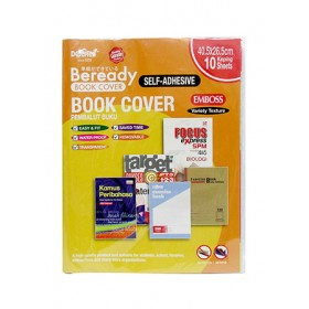 DOLPHIN SELF-ADHESIVE BOOK COVER <EMBOSSED> 10 PCS