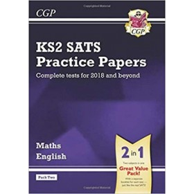 KS2 MATHS&ENG SATS PRAC PAPERS PACK 2'18