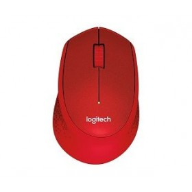 LOGITECH M331 SILENT PLUS WIRELESS MOUSE - RED