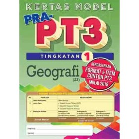 TINGKATAN 1 KERTAS MODEL PRA-PT3 GEOGRAFI