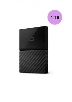 WESTERN DIGITAL HARD DISK 1TB MY PASSPORT BLACK