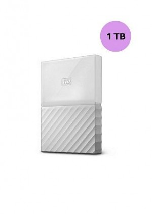 WESTERN DIGITAL HARD DISK 1TB MY PASSPORT WHITE