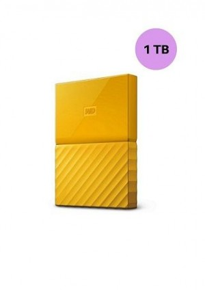 WESTERN DIGITAL HARD DISK 1TB MY PASSPORT YELLOW