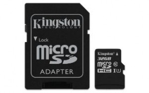 KINGSTON MEMORY CARD 32GB MSD CARD C10 80MB/S
