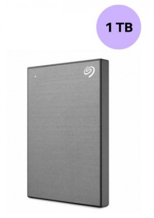 SEAGATE HARDISK 1TB BACK UP PLUS SLIM SPACE GREY